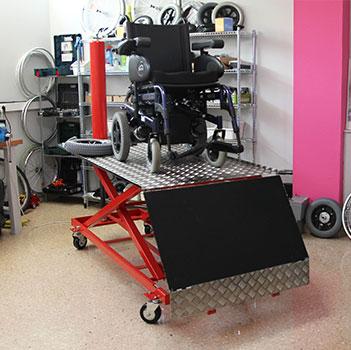 Taller de adaptaciones para sillas de ruedas